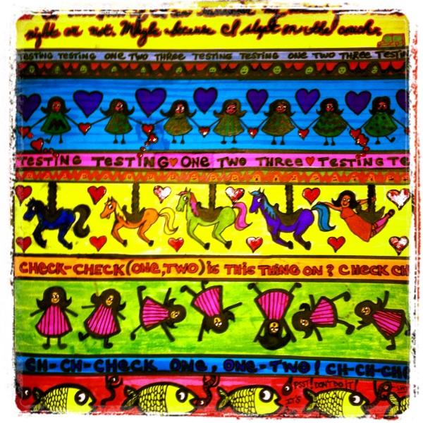 colorful fabric pattern